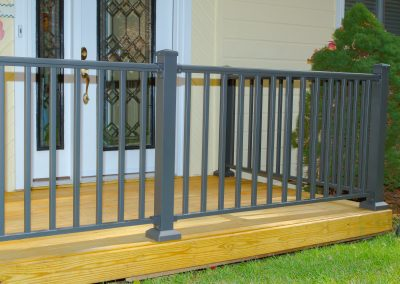 Sq Baluster Railing - Bronze w- Low Profile Post Base Cover