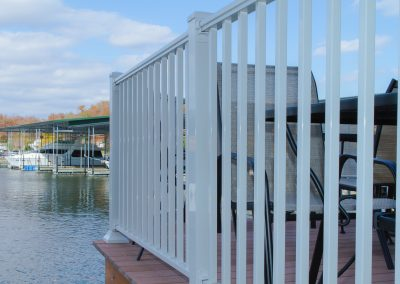 Sq Baluster Railing - White